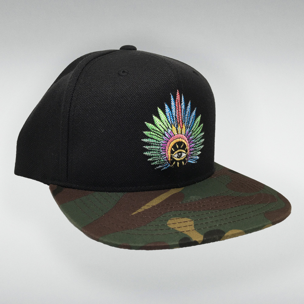 IC Stitched Logo Hat (Black/Camo)