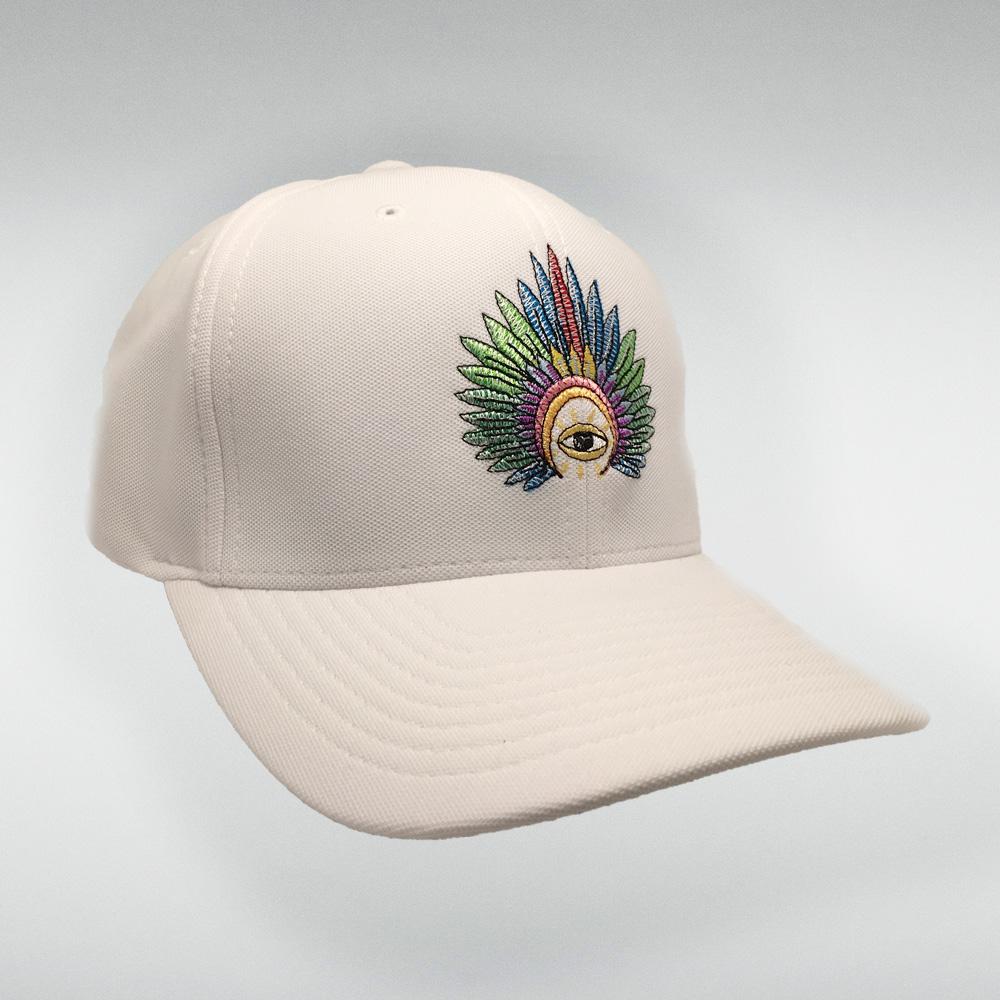IC Stitched Logo Hat (White)
